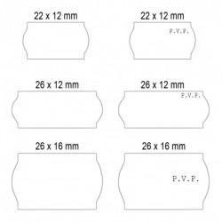 Rollos de etiquetas blanca Adhesivo 2 (40 rollos)