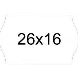 Rollos de etiquetas onduladas 26X16 blanca Adhesivo 1 (removible) (40 rollos)
