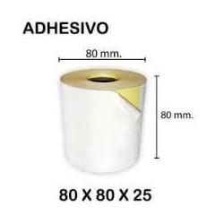Caja de 12 Rollos de Papel Térmico 80×80 Adhesivo continuo