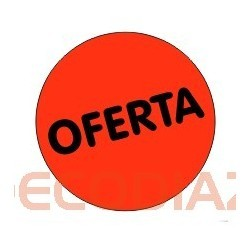 "3 Rollos de 500 etiquetas preimpresas ""OFERTA"""